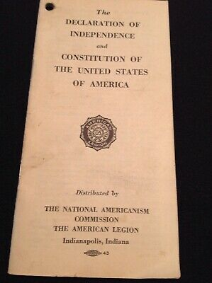 Declaration of Independence And Constitution Of United States Of America Booklet