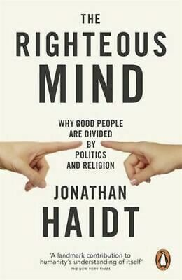 NEW The Righteous Mind By Jonathan Haidt Paperback Free Shipping