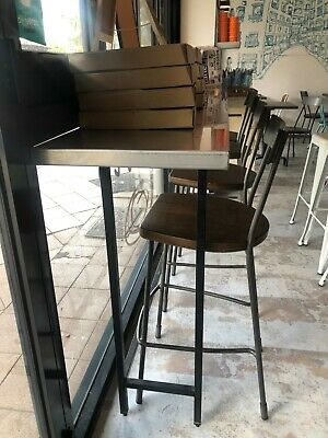 Two Stainless steel top bench top table (can be sold seperately)