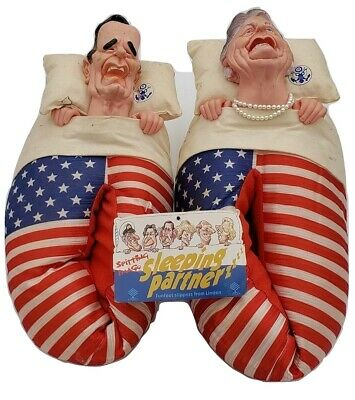 George & Barbara Bush Sleeping Partner Novelty Slippers
