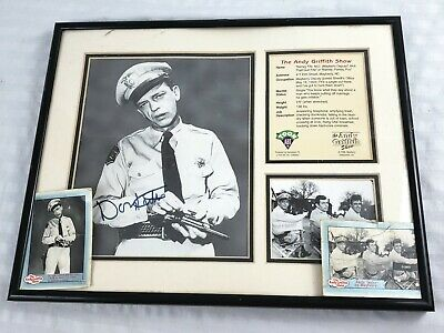 Toon Art BARNEY Fife DON Knotts AUTOGRAPHED Framed Photo Andy Griffith Show COA