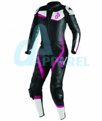 Brand New WOMEN/LADIES-2 Piece Motorcycle/Motorbike Riding Leather Suit CE
