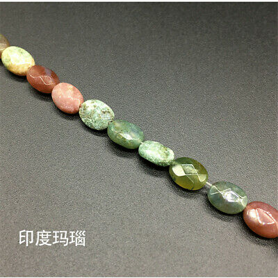 1pcs Natural Crystal Agate Oval Section Loose Bead 15 Inches Healing Diy Lots