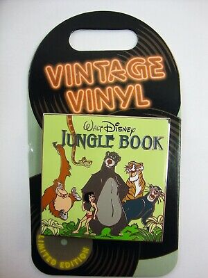 DISNEY Parks Pin of the Month VINTAGE VINYL JUNGLE BOOK LE 4000