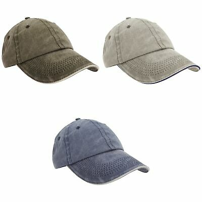 Result Washed Fine Line Cotton Baseball Cap With Sandwich Peak (Pack of (BC4238)