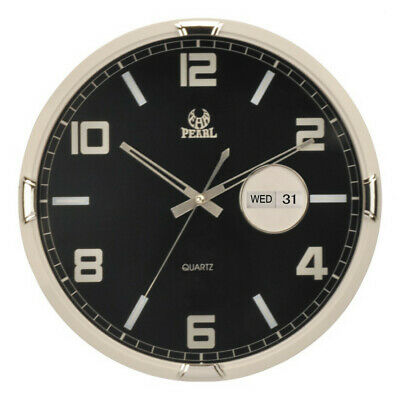 NEW 36cm Wall Clock With Date - Pearl Time,Clocks