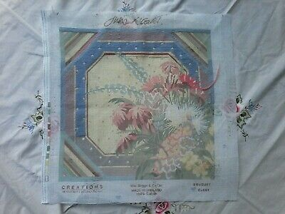 Floral Parcially Worked Tapestry Canvas