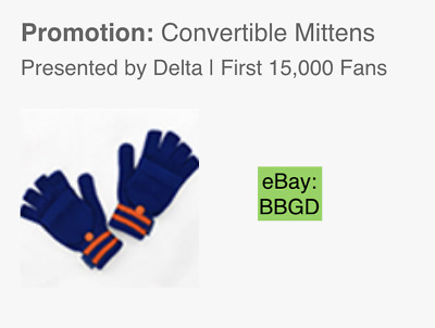 Ships Today: 2019 New York Mets Convertible Mittens Gloves SGA 9/7/19 - Sept. 7