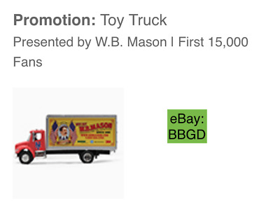 Ships Today: 2019 New York Mets W.B. WB Mason Toy Truck SGA 9/8/19 -September 8