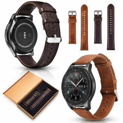 Genuine Leather Band Wrist Strap For Samsung Gear S3 22mm NEW Galaxy Watch 46mm