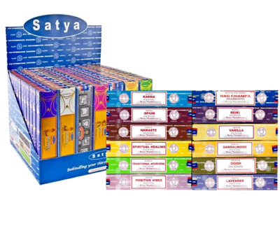 Original Satya Insence Genuine Nag Champa Incense Sticks Joss 15g Mix & Match