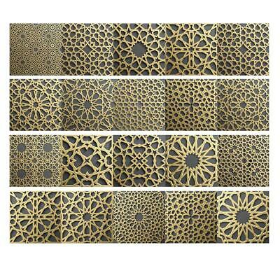 Moroccan Style Self Adhesive Vintage Tile Stickers PVC Sticker Wall Decals HOT