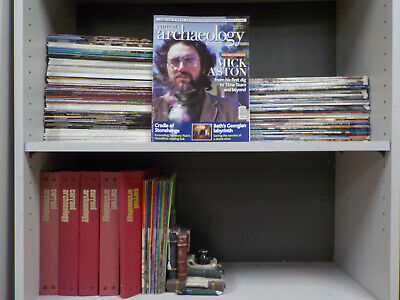 Current Archaeology - 214 Magazines with 5 Binders Collection! (ID:5810)