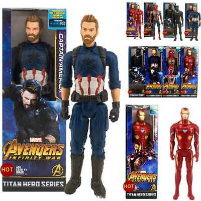 12inches Marvel's The Avengers Super Heros Action Figure Black Panther Toys Kids