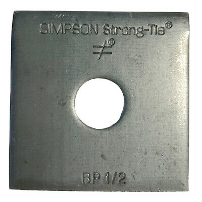 """Simpson Strong-Tie BP-1/2 1/2"""" Bolt Dia. 2"""" x 2"""" Bearing Plate"""