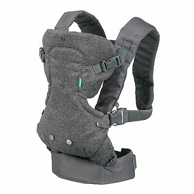 NEW! Infantino Flip Advanced 4-in-1 Convertible Carrier, Light Grey