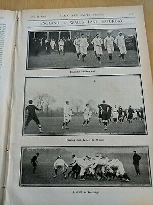 1902 magazine RUGBY UNION ENGLAND WALES