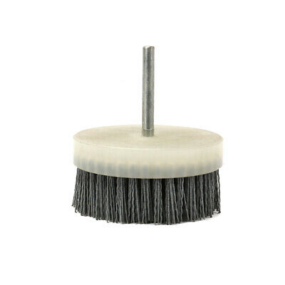 "4"" 100mm Abrasive Wire Brush Polishing Nylon Cup Buffing Tool 5/16"" Shank 180#"