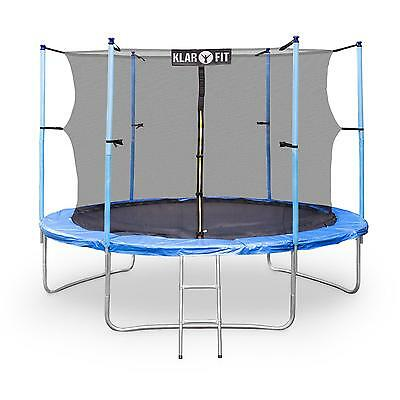 Trampoline Enfant Jeu De Plein Air Diametre 305Cm Filet De Securite 150Kg Bleu