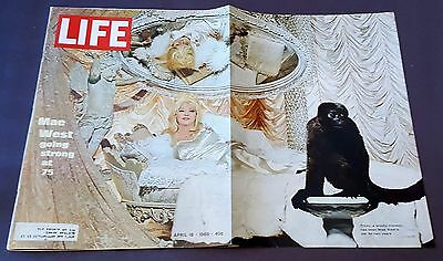 April 18, 1969 LIFE Magazine: Mae West, 60s Advertising ads add FREE SHIPPING 4