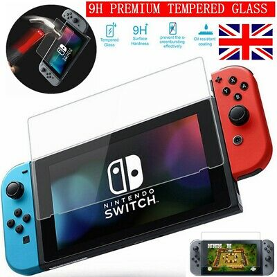 For Nintendo Switch Console PREMIUM TEMPERED GLASS Screen Protector Cover 9H
