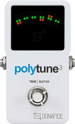 TC Electronic PolyTune 3 Polyphonic Guitar Tuner with Buffer