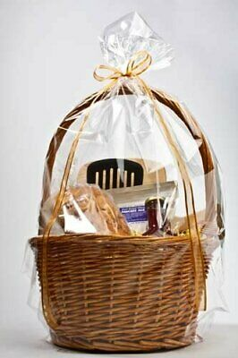 """10 Large 18 x 24"""" Clear Cellophane Cello Holiday Gift Food Basket Bags Easter"""