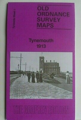 Old Ordnance Survey Detailed Maps Tynemouth 1913  Godfrey Edition Special Offer