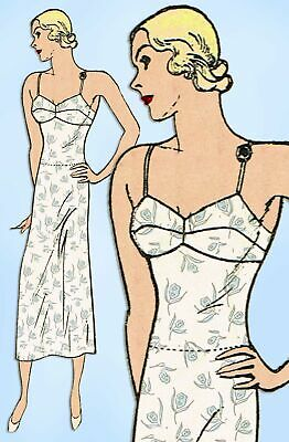 Butterick 4779: 1930s Misses Slip w Attached Panties 32 B Vintage Sewing Pattern