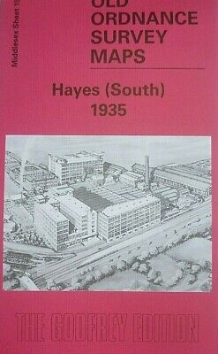 Old Ordnance Survey Detailed  Maps Hayes South Middlesex  1935 Godfrey Edition