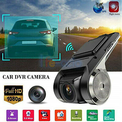 1080P FHD Car DVR 2MP Camera Video Recorder WiFi GPS ADAS G-sensor Dash Cam USB