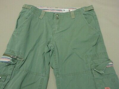 099 Womens Ex-Cond Rusty Reg Joe Cut Khaki Cargo Pants Sze 12 $100 Rrp.