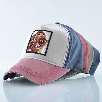 Unisex Baseball Cap Men Women Fashion Animals Embroidery Snapback Hat Spring
