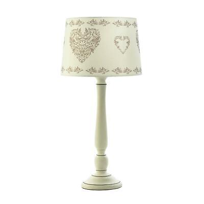 Clearance Vintage Style Off White Ceramic Table Lamp Fabric