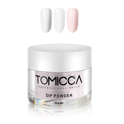 TOMICCA Dip Powder Acrylic Nail Dipping System French Manicure 2oz. 3 colors