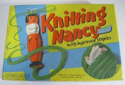 Vintage 50s-60s wooden Knitting Nancy Spear's Games England MIB