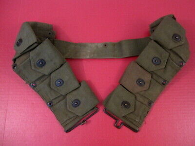 post-WWII USMC Dismounted M1923 Ammunition Cartridge Belt - M1 Garand 1951  NICE