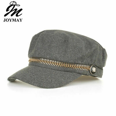 AKIZON Military Cap Hat Female Winter Hats For Women Men Ladies Army Militar
