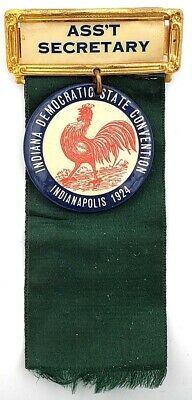 1924 Indiana Democratic Convention Badge