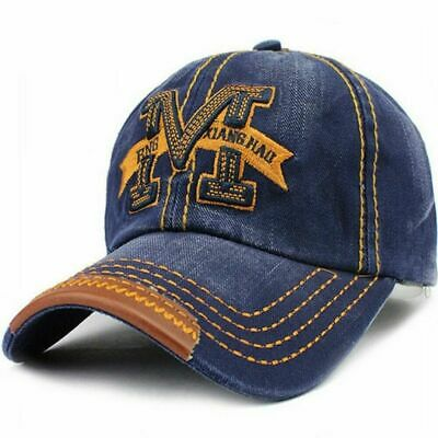 AKIZON Men's Adjustable Cotton Baseball Cap Fashion Style Embroidery Letter