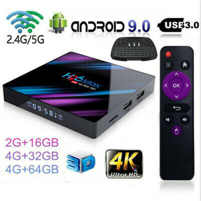 H96 Max Android9.0 Smart TV Box 64G Quad Core 4K HD 5.8GHZ WiFi Media Player LOT