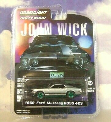 `69 Ford Mustang Boss 429 JOHN WICK Film Auto 1969 *** Greenlight 1:64 OVP