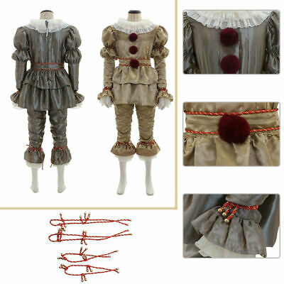 IT Stephen King Movie Pennywise Cosplay Costume The Clown Outfit Halloween Set