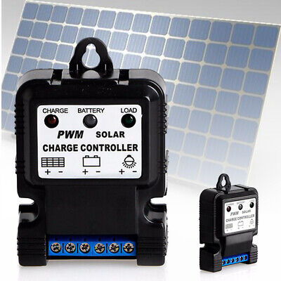 New 6V 12V 10A PWM Auto Solar Panel Charge Controller Battery Charger Regulator