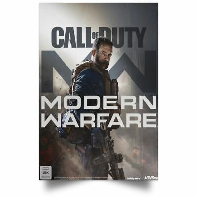 Video Game  Call of Duty Modern Warfare Poster Silk 24 X 14 inches