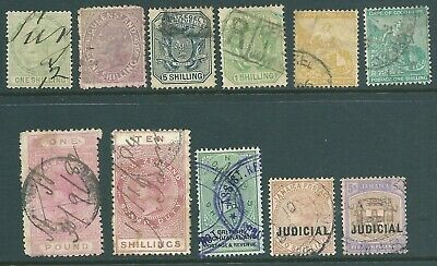 BRITISH COLONIES Queen Victoria used High Value stamp collection to £1