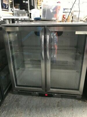 Capital Double Door Back Bar Bottle Cooler - Stainless Steel