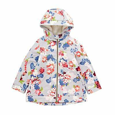 Joules Utility Aop Waterfall Girls Jacket - Bloomin Floral Glass All Sizes