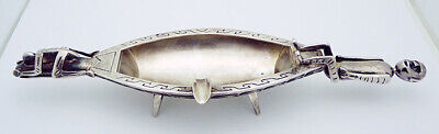 "ESTATE!!! Southwestern US Artisan Crafted 9"" Long Ashtray in Sterling Silver"