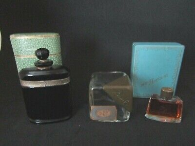 Lot of 3 Antique perfume bottles,  Caron,  Ciro & Ravel